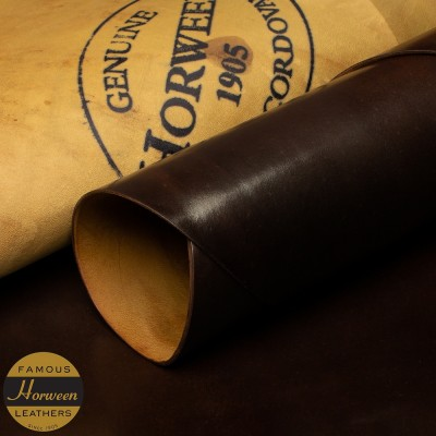 HORWEEN GENUINE SHELL CORDOVAN® - DARK COGNAC - 1.0/2.0mm