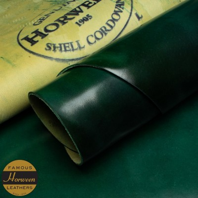 HORWEEN GENUINE SHELL CORDOVAN® - GREEN - 1.0/2.0mm