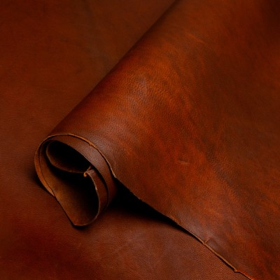 VEGETABLE TANNED OILED GOATS - RICH MAHOGANY - 0.8/1.0mm