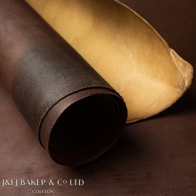 J&FJ BAKER WAXED FLESH CALF - BROWN - 1.3/1.5mm